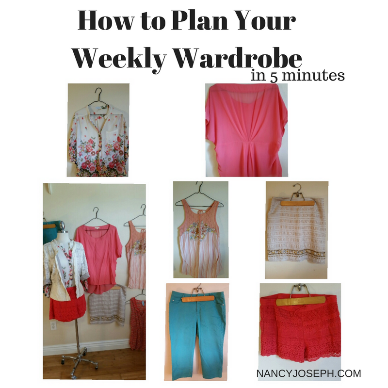 How to Plan Your Weekly Wardrobe in 5 Minutes