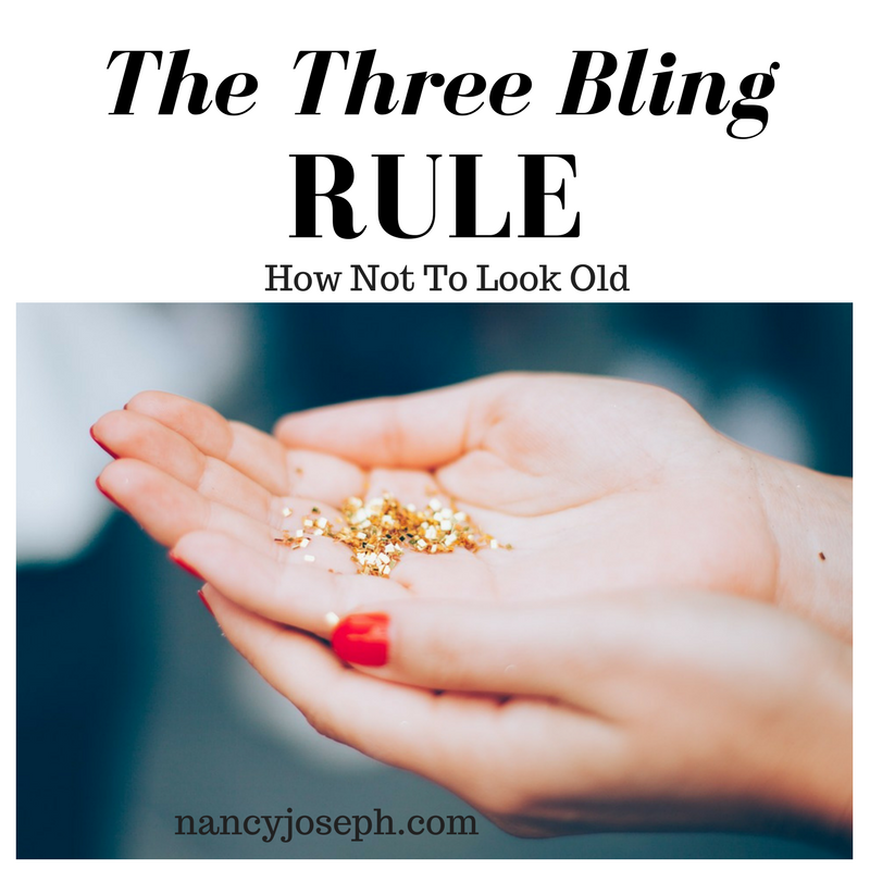 How Not To Look Old – The Three-Bling Rule